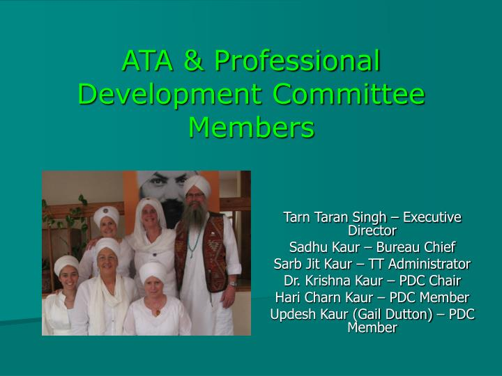 ATA & Professional Development Committee Members