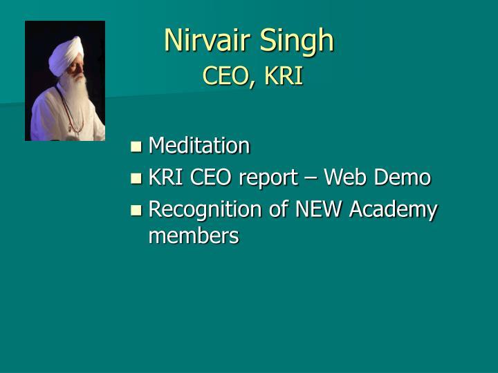 Nirvair Singh