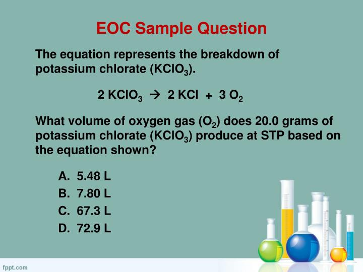 EOC Sample Question