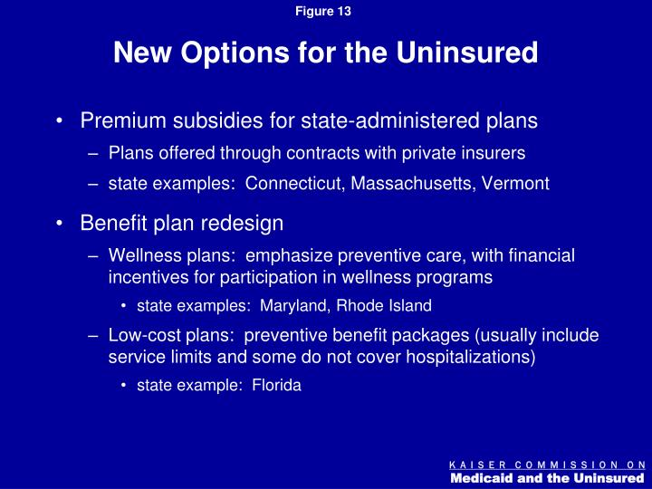 New Options for the Uninsured