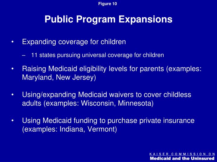 Public Program Expansions