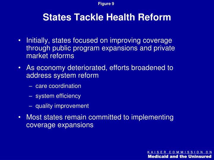 States Tackle Health Reform