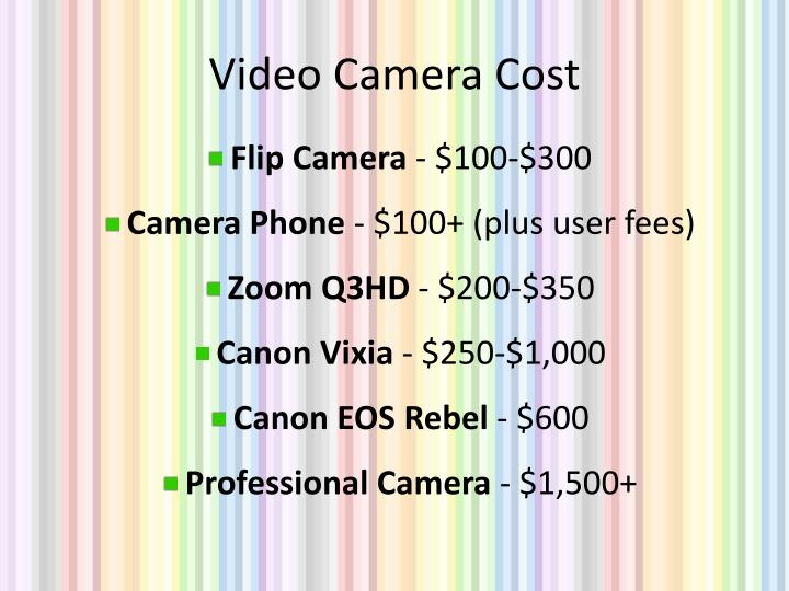 Video Camera Cost