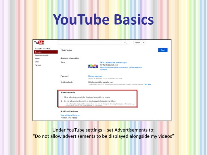 YouTube Basics