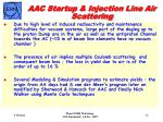 aac startup injection line air scattering