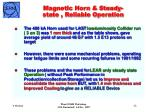 magnetic horn steady state reliable operation