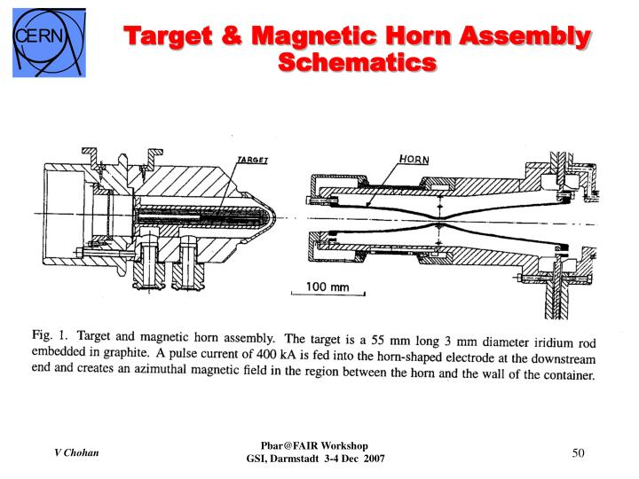 Target & Magnetic Horn Assembly Schematics