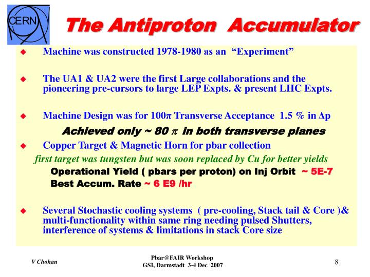 The Antiproton  Accumulator