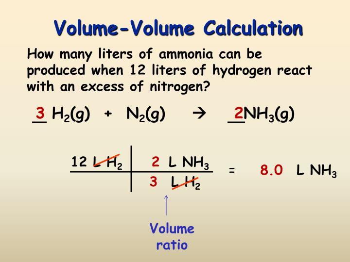 Volume-Volume Calculation
