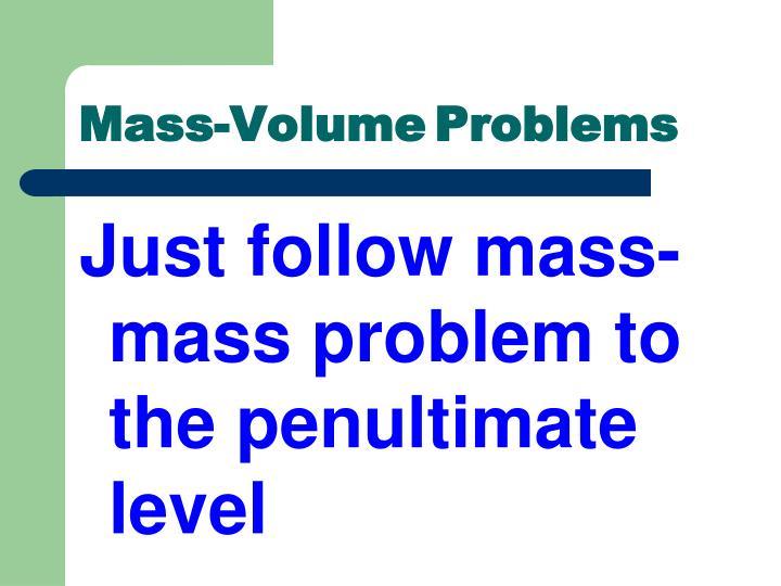 Mass-Volume