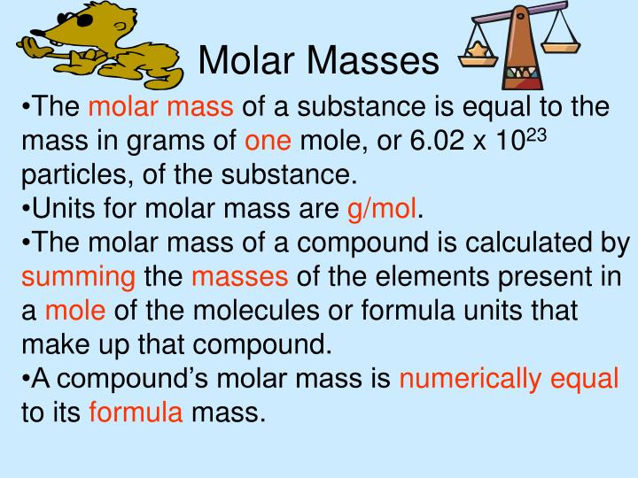Molar Masses