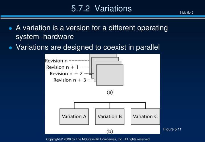 5.7.2  Variations
