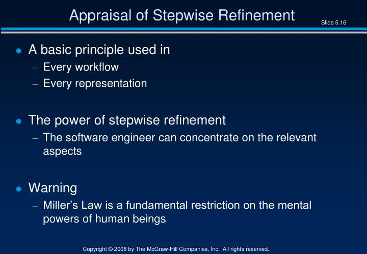 Appraisal of Stepwise Refinement