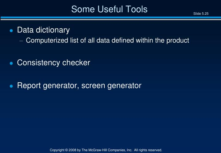 Some Useful Tools