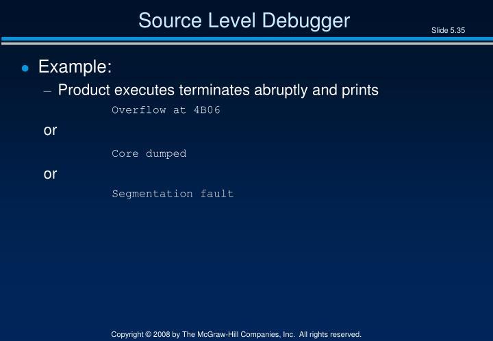 Source Level Debugger
