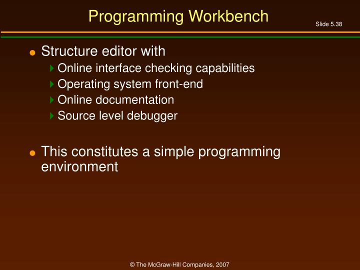 Programming Workbench