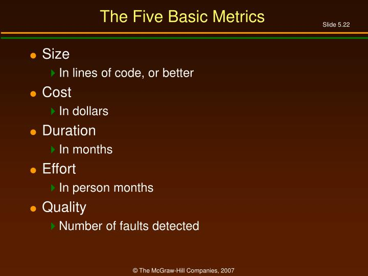 The Five Basic Metrics