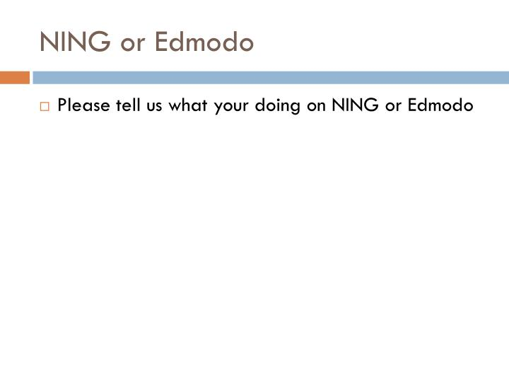 NING or