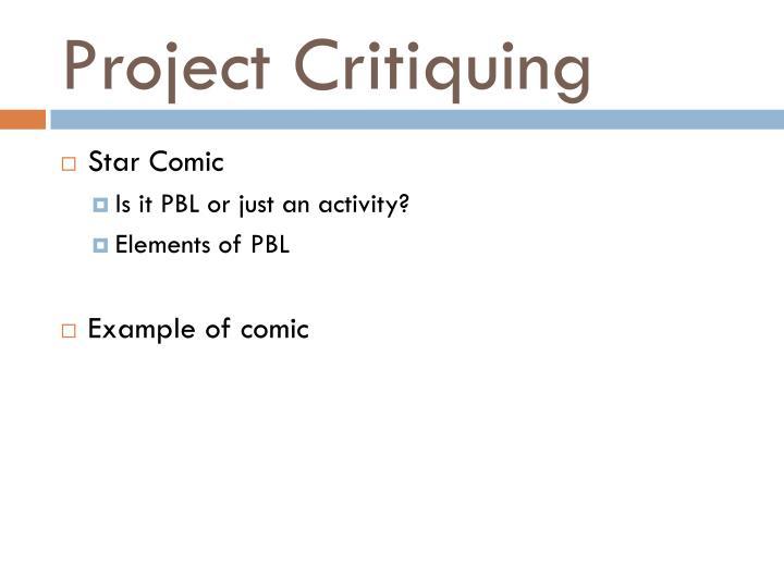 Project Critiquing