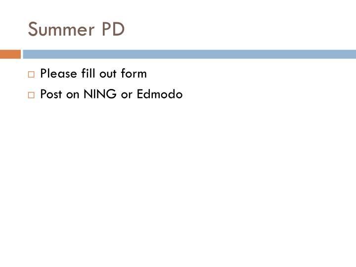 Summer PD