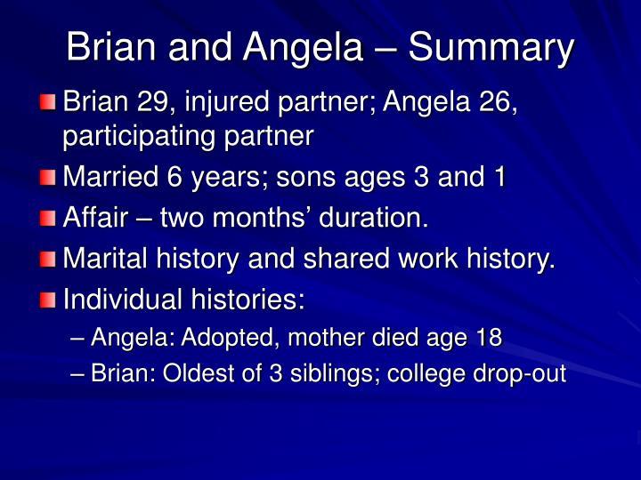 Brian and Angela – Summary