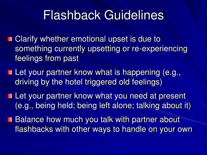 Flashback Guidelines