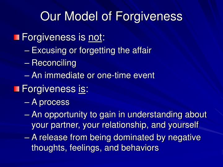 Our Model of Forgiveness