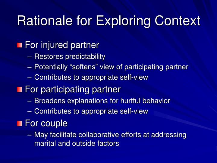Rationale for Exploring Context