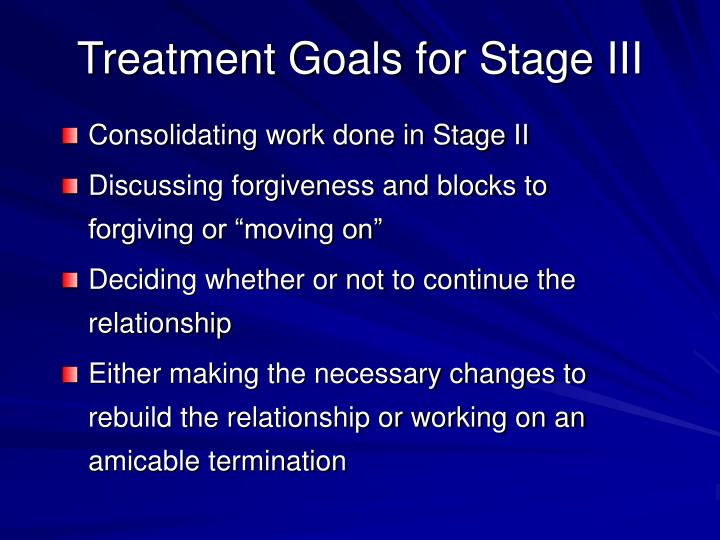 Treatment Goals for Stage III