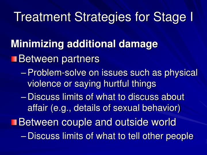 Treatment Strategies for Stage I