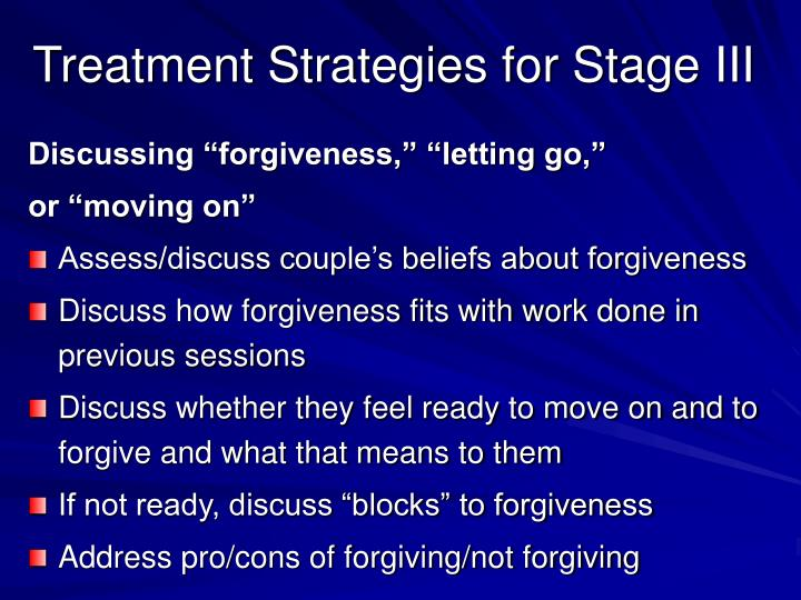 Treatment Strategies for Stage III