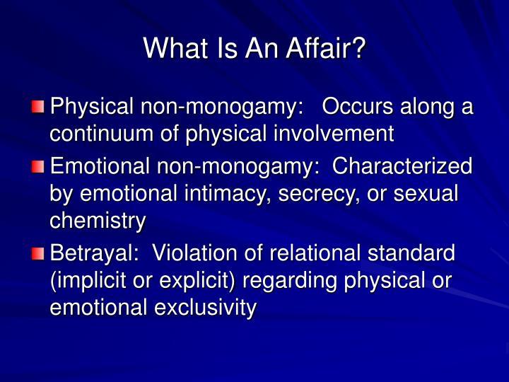 What Is An Affair?
