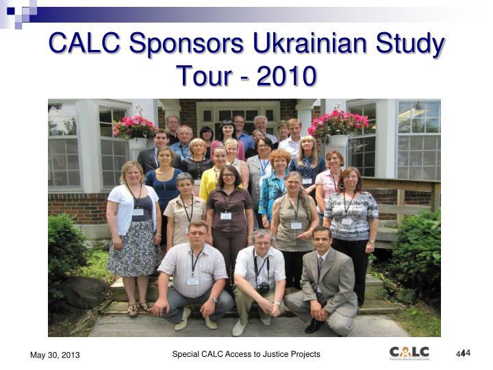 CALC Sponsors Ukrainian Study Tour - 2010