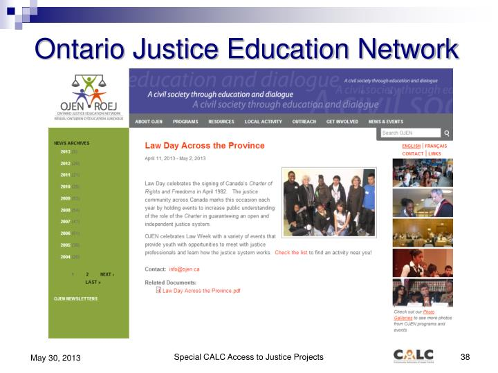 Ontario Justice Education Network
