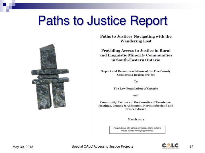 Paths to Justice Report