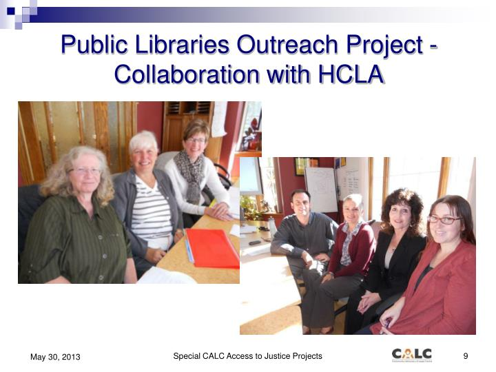 Public Libraries Outreach Project -  Collaboration with HCLA