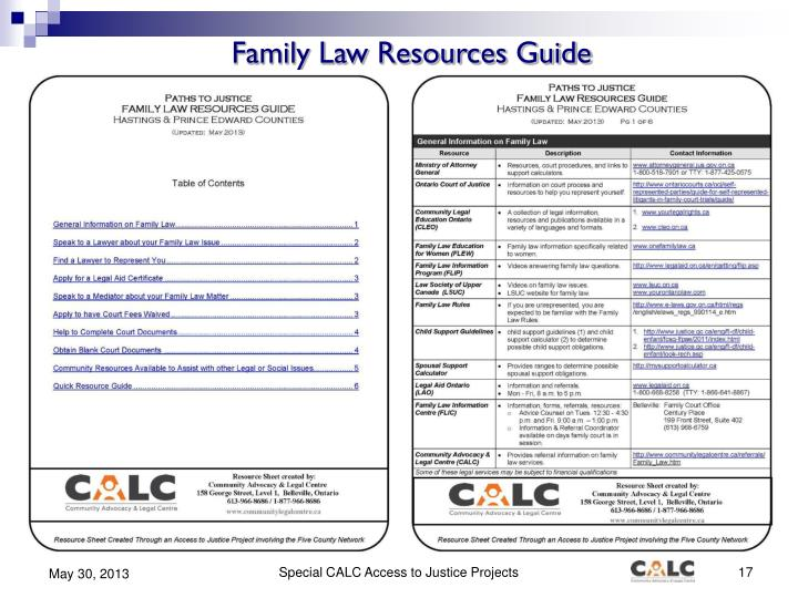 Family Law Resources Guide