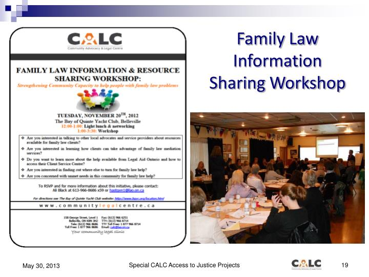 Family Law Information Sharing Workshop
