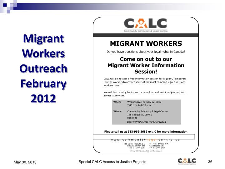 Migrant Workers Outreach