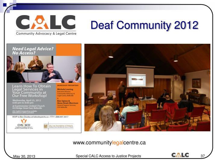 Deaf Community 2012