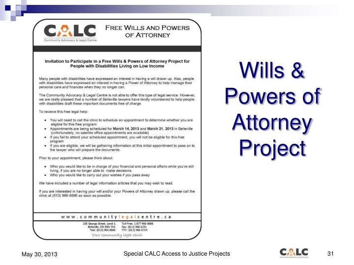 Wills & Powers of Attorney Project