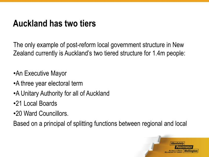Auckland has two tiers