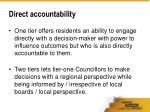direct accountability