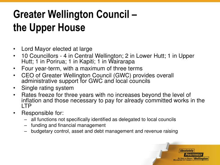 Greater Wellington Council –