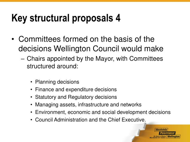Key structural proposals 4