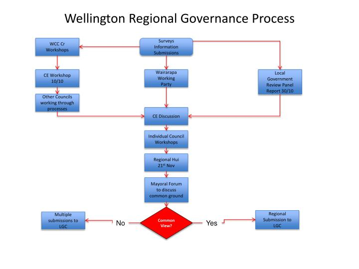 Wellington Regional Governance Process