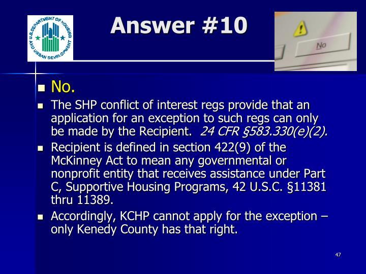 Answer #10