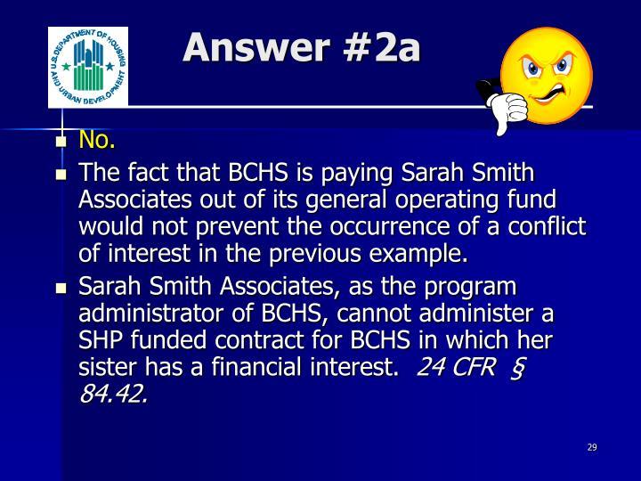 Answer #2a