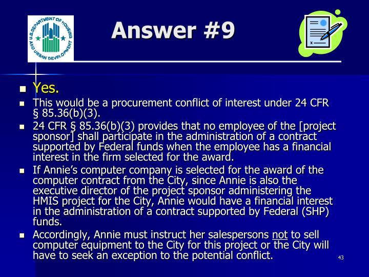 Answer #9