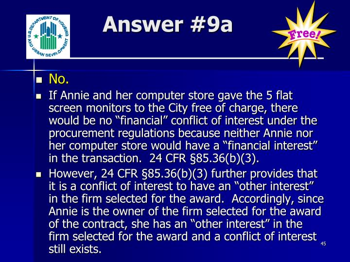 Answer #9a